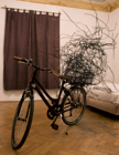 """Fahradskulptur"", 2010, 250x200x25cm, bicycle, metal wire"